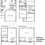 Georgetown 2-story, 3 bedroom townhome floor plan.