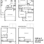 Lexington 2-story, 3 bedroom townhome floor plan.
