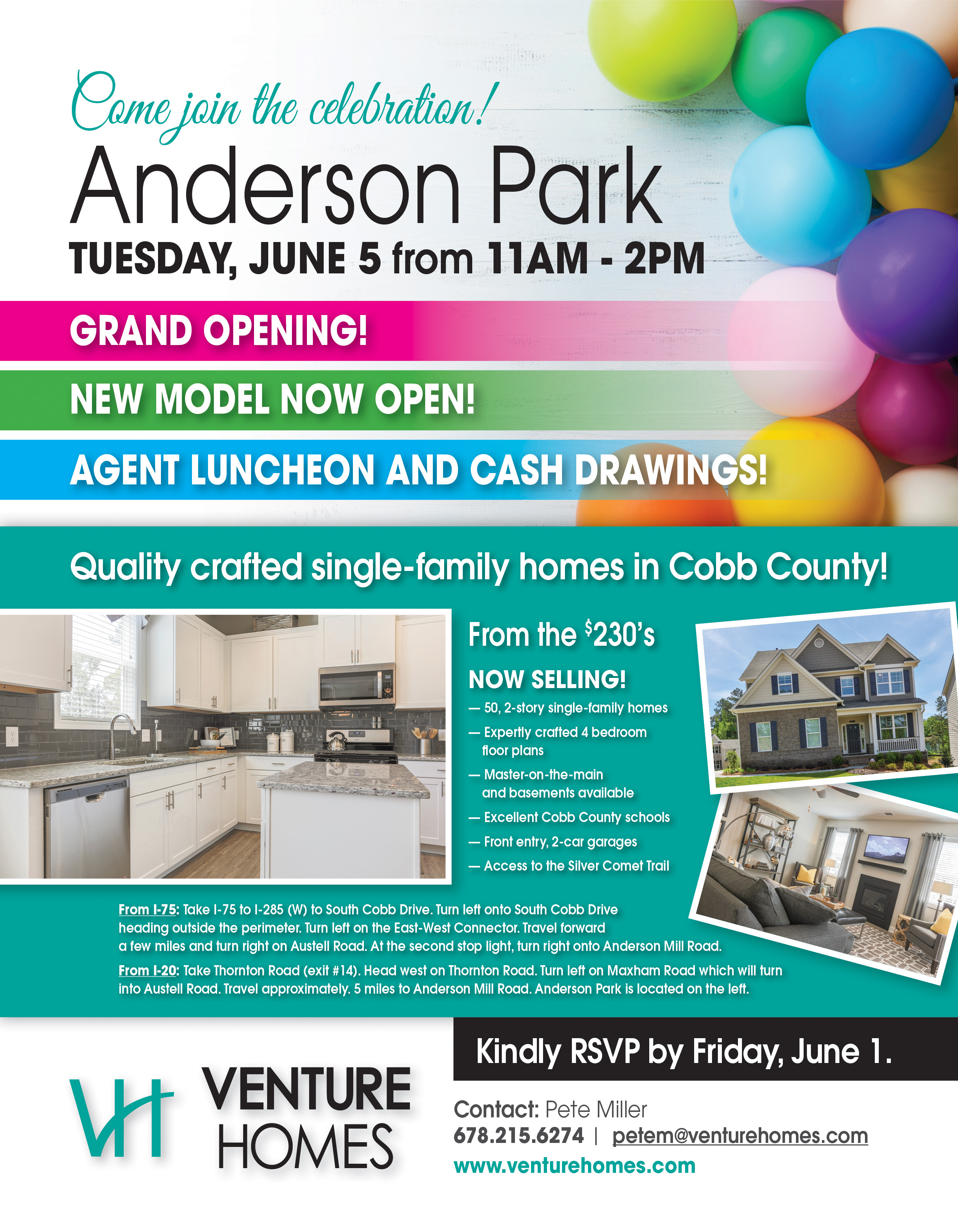 Anderson Park Grand Opening Flyer