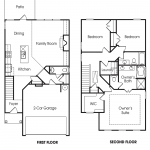 Brighton 3BR-A 2-story townhome floor plan.