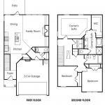 Brighton 3BR-B 2-story townhome floor plan.