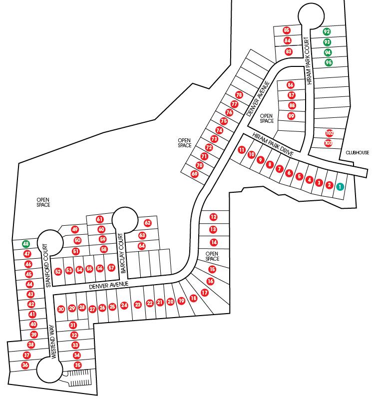 Hiram Park Sitemap