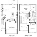 Morningside 3BR-B single-family floor plan.