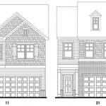 Hiram Park's Lexington floor plan elevations