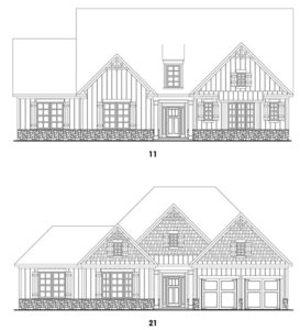 HighPoint at Laurel Canyon's Fairhaven 1 floor plan elevations