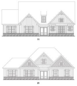 Southern Lights at Great Sky's Fairhaven 2 single-family floor plan elevations