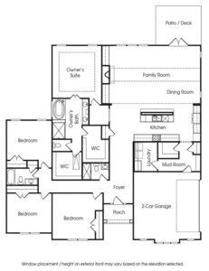 Venture Communities' single-family Fairhaven 1 floor plan.
