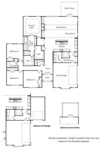 Southern Lights at Great Sky's Fairhaven 2 single-family floor plan.