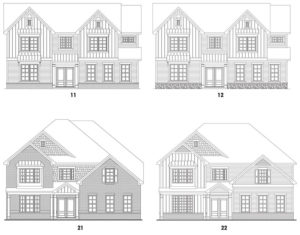 Southern Lights at Great Sky's Fairmont 2 single-family floor plan elevations