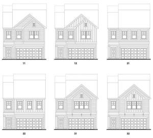 Hiram Park's Georgetown floor plan elevations