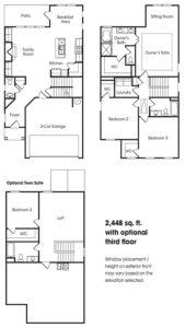Georgetown single-family floor plan.