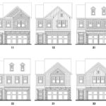 Heritage Ridge's Grant single-family floor plan elevations