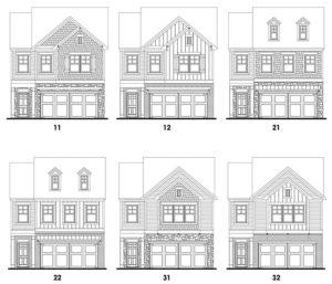 Heritage Ridge's Grant single-family floor plan elevations