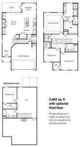 Lexington single-family floor plan.
