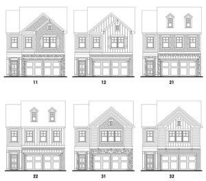 Heritage Ridge's Lincoln single-family floor plan elevations
