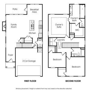 Lincoln single-family floor plan.