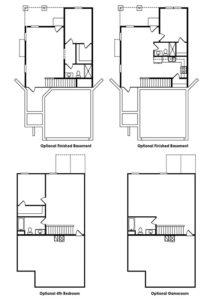 Lincoln single-family floor plan optional upgrades.