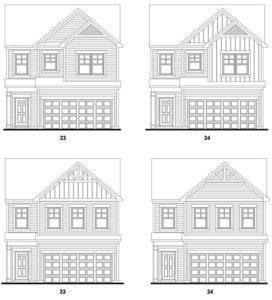 Hiram Park's Morningside floor plan elevations