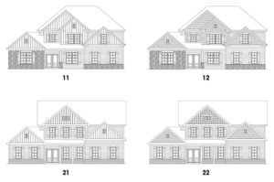 Southern Lights at Great Sky's Stonecroft 2 single-family floor plan elevations