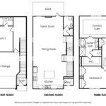 Piedmont 3BR single-family floor plan