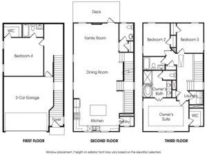 Piedmont 4BR-A single-family floor plan