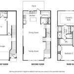 Townsend 3BR single-family floor plan