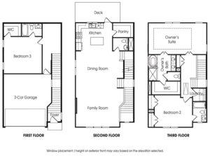 Townsend 3BR single-family floor plan