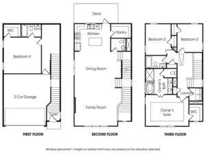 Townsend 4BR-A single-family floor plan