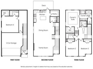 Townsend 4BR-B single-family floor plan