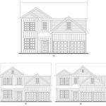 Brookstone Creek's Crestwood single-family floor plan elevations