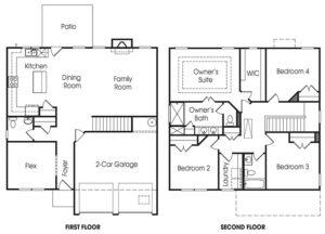 Dunbrook single-family floor plan