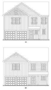 Brookstone Creek's Somerbrook single-family floor plan elevations