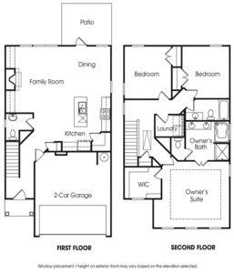Morningside single-family floor plan