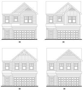 Old Mill's Morningside single-family floor plan elevations