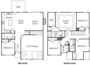 Crestbrook single-family floor plan